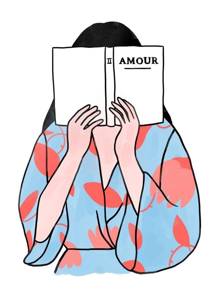 Ilustración minimalista sobre el amor y otras emociones