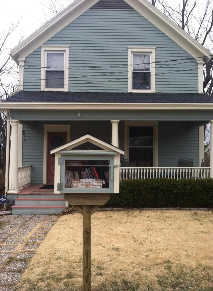 Annen Stuckert. Wilmington, OH.  	 I work at the Wilmington Public Library in town and I have wanted a Little Free Library since the first time I saw one! We are near to the Wilmington College Campus, so we get a lot of foot traffic past our home, we hope that the community will enjoy our Little Library and spread the love of books with others.