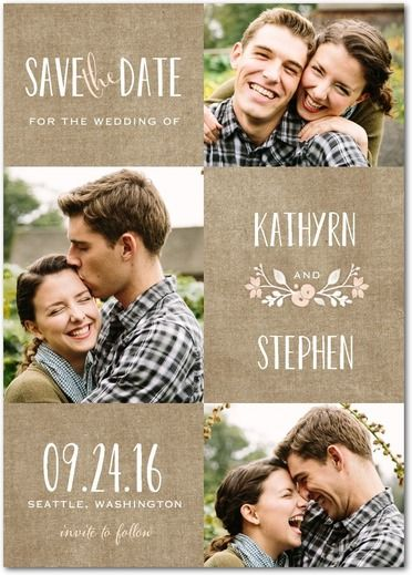 Wreathed In Love   Save The Date Postcards   Lady Jae   Cashmere Pink   Pink