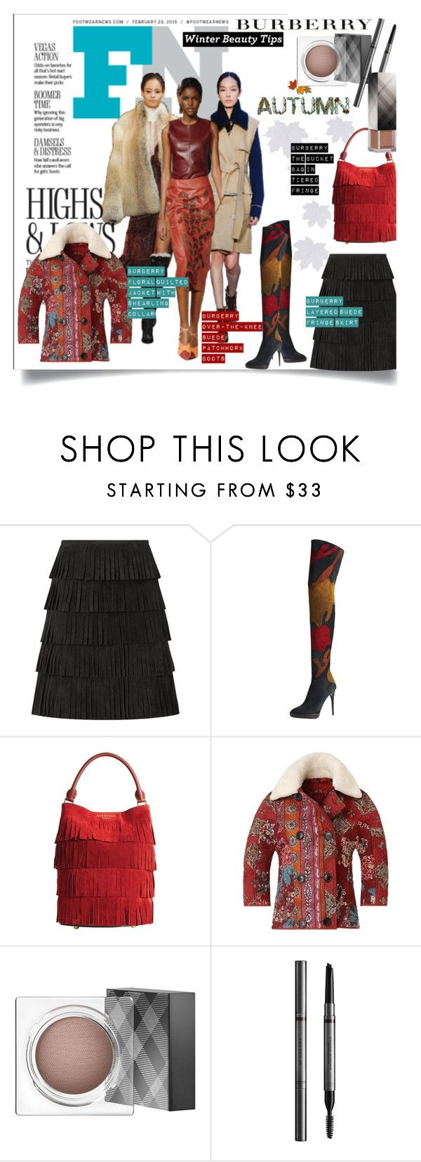Burberry Autumn/Winter 2015... by unamiradaatuarmario on Polyvore featuring moda, Burberry, fashionWeek and autumn2015