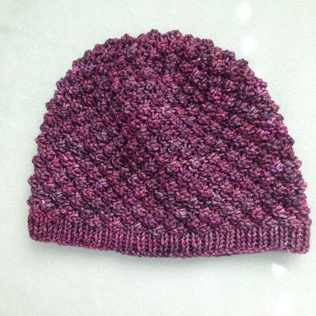 Bramble Hat by Kira Dulaney, knitted by Stink38 | malabrigo Rios in Purpuras