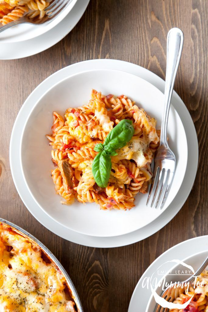 A delicious twist on the classic sausage pasta bake. Use brown pasta