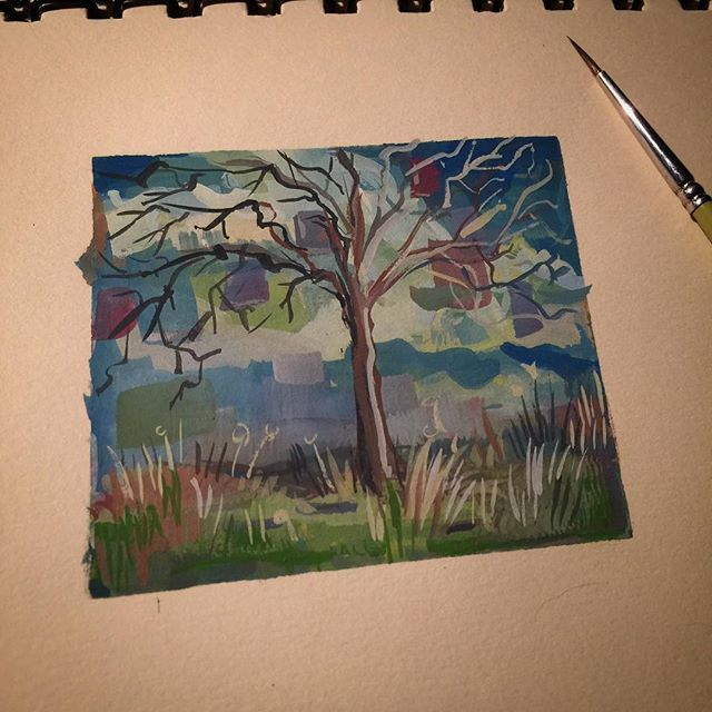 #art #drawing #sketch #sketching #instaart #instasketch #painting #paint #quick #moleskine  #winsorandnewton #gouache #brush #imagination #abstract #color #landscape #doodle