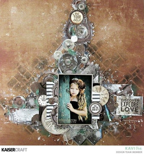Layout with Factory 42 by Kavitha - Kaisercraft Official Blog