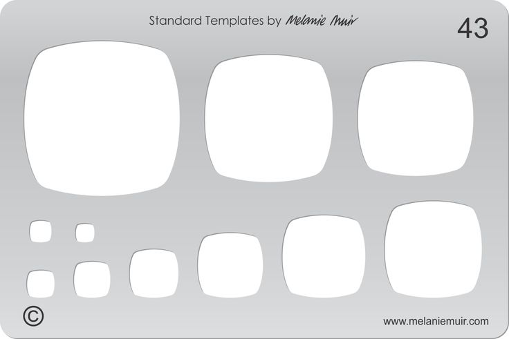 Acrylic template No. 43. Perfect for creating a wide variety of polymer, metal or clay bracelet, necklace, pendant and earring designs.