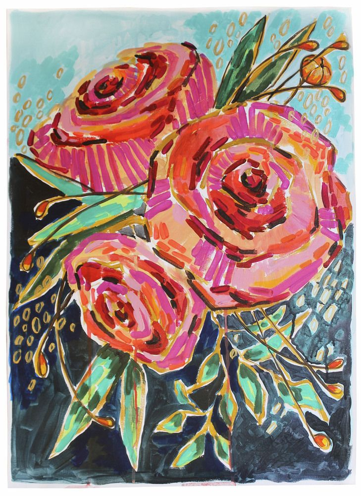 """vertical candied roses 19.5"""" X 27.5"""""""