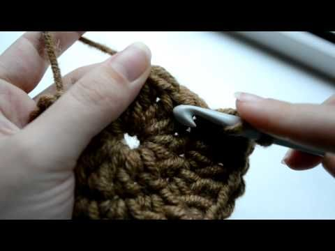 How to crochet a circle with three rounds - Part 3 of 3 - YouTube