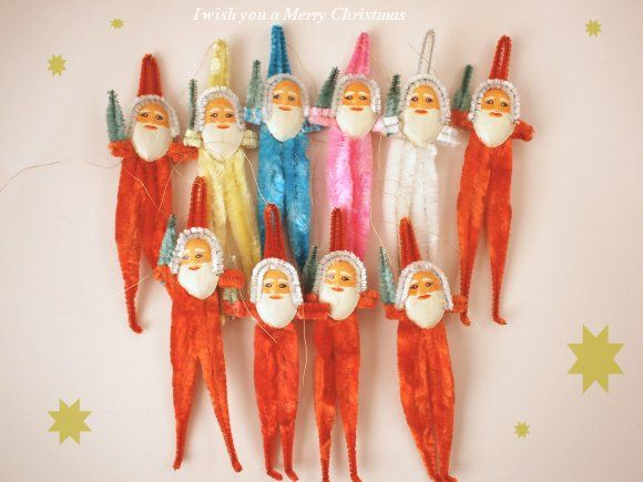 *昭和 レトロ クリスマスオーナメント 飾り モールサンタ   Sumally (サマリー)
