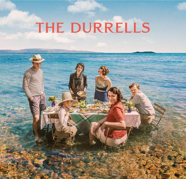 The durrells Keeley Hawes, Anna Savva, Josh O'Connor, Milo Parker, Daisy Waterstone and Callum Woodhouse in The Durrells (2016)