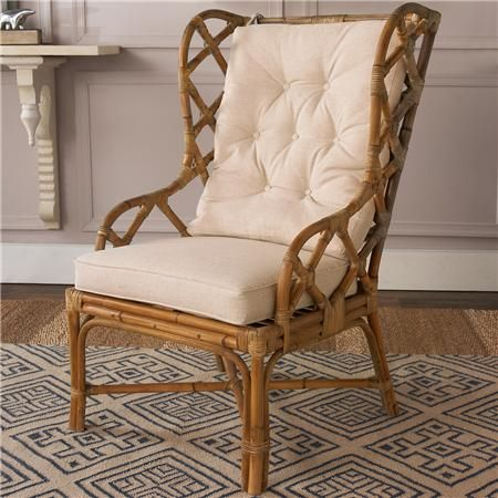 """Rattan Wingback Chair 