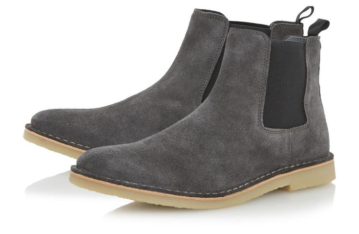 Dune London Castro Grey Chelsea Desert Boot