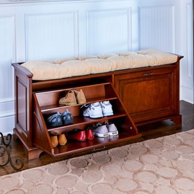 Find a shoe bench that offers convenient shoe storage and a comfy seat. Available in a double size and 3 stylish finishes.