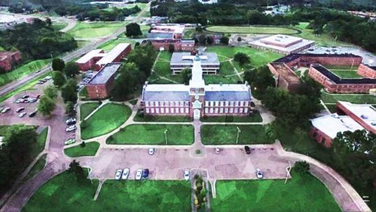 Rust College aerial view