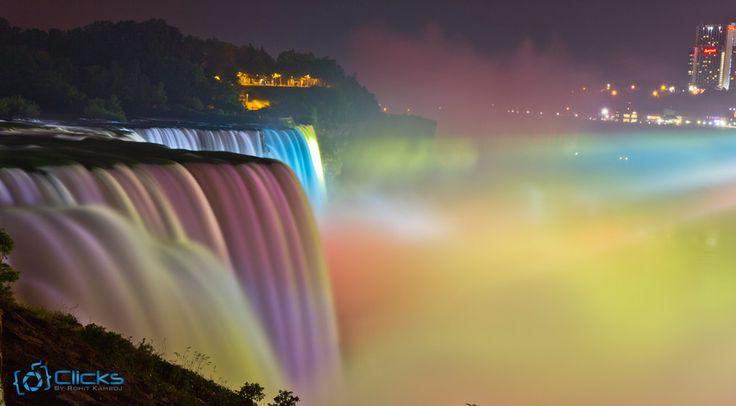 Lights at the Niagara Falls by Rohit Kamboj on 500px