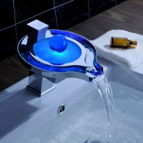 WANT!!!!!!!.....YES!!        Color Changing LED Waterfall Bathroom Sink Faucet