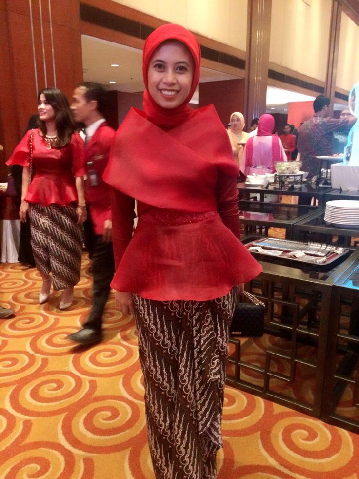Red organdi kimono