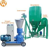 Strongwin feed manufacturing machinery 300kg/h poultry animal feed pellet production line plant https://app.alibaba.com/dynamiclink?touchId=60608534593