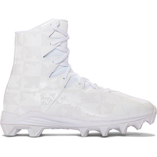 """Under Armour Highlight Youth Cleat in White UA ClutchFit® upper wraps your foot in a """"second skin"""" of advantages for powerful support & an incredible feel Extended eyerow cut-outs for better ease of entry & superior flexibility Die-cut EVA footbed provides excellent comfort... http://shoes.bestselleroutlet.net/product-review-for-under-armour-highlight-rm-youth-lacrosse-cleats-whitesilver-1-5/"""