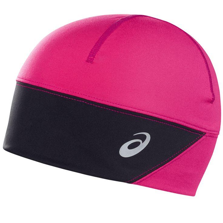 Asics Beanie PFM roze/zwart dames bij Hardloopaanbiedingen.nl #Asics #hardloopmuts