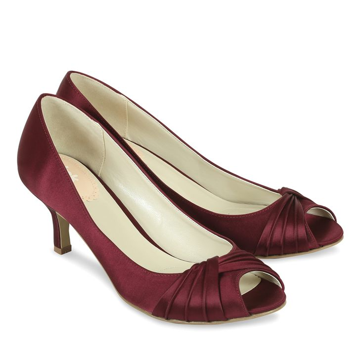 Pink Paradox Claret Red Satin Shoes
