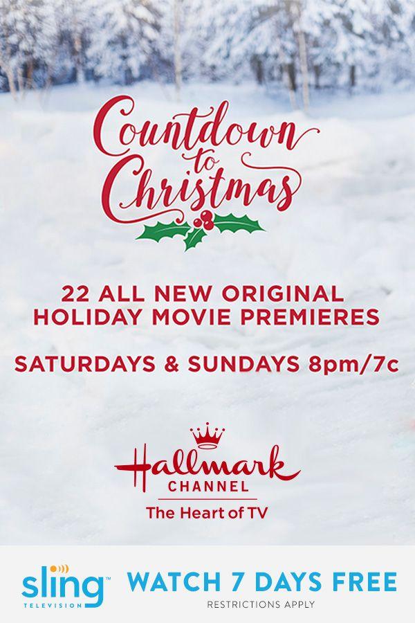 Watch Countdown to Christmas on Hallmark Channel with Sling TV | Sling TV | Sling tv, Hallmark ...