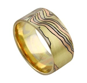 new desing, newly listed on EBAY mokume gane + hand engraving design buy 1 mokume ring get 1 DANCE OF THE RING desig REPIN REPIN PLEASE