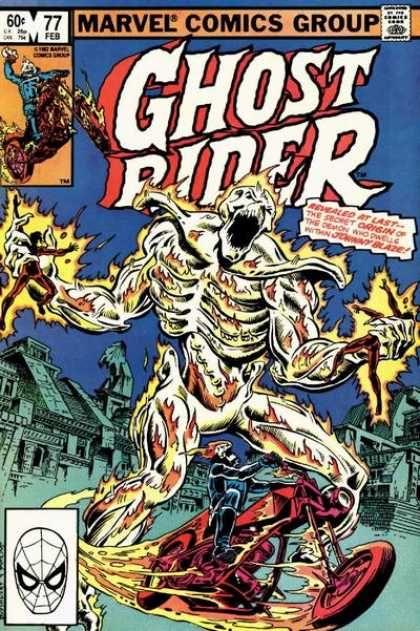 Johnny Blaze - Motorcycle - Skeleton - Scary Houses - Flames - Dave Simons, Salvador Larroca