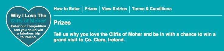 """Concorso """"Why I Love The Cliffs of Moher"""" per vincere un viaggio in Irlanda"""