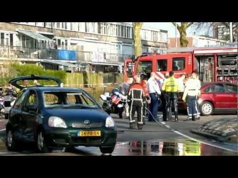 Brandweer in actie bij ongeluk