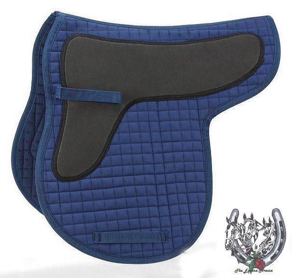EquiRoyal Shock Absorbing Quilted Cotton Contour English Saddle Pad