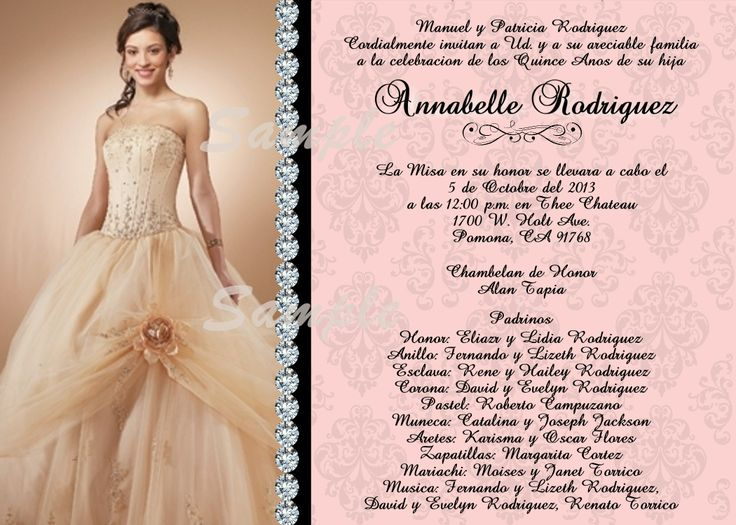 Quinceanera Invitation (Sweet 16) | invitations | Pinterest | Invitations, Sweet and Sweet 16