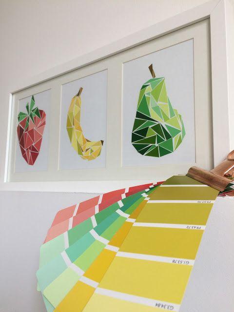 collage fruits géométrique www.tadaam.fr