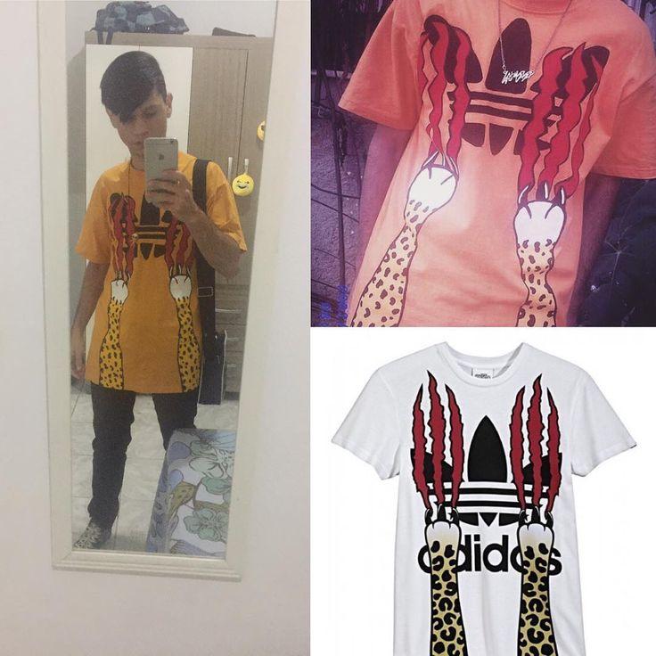 Work finished, fabric painting inspired by Jeremy Scott's collection for Adidas. ------- Trabalho finalizado, pintura sobre tecido inspirado na coleção de Jeremy Scott para a Adidas.    #fabricpainting #painting #draw #drawing #adidas #diy #costume #art #kpop #kppoper #2NE1 #JeremyScott #designer #goth #kawaii #fashion #doityourself #kpop #coreia #korea #japan #japao