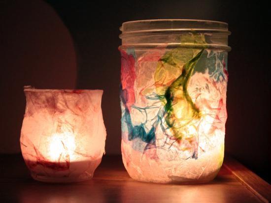 Tissue Paper Night-Lights