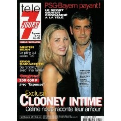 Télé 7 jours (n°1953) du 01/11/1997 : George Clooney intime [couverture et article mis en vente par Presse-Mémoire]