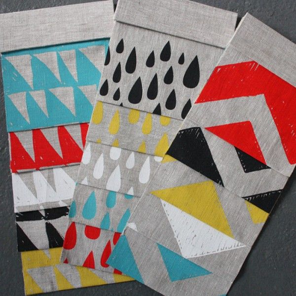 Totem by Harvest Textiles - hand-screenprinted fabric