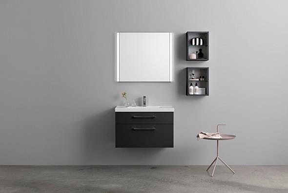 Aspen Badrum / Badrumsmöbler / Scandinavian / Bathroom Furniture / A80 Ikon Underskåp, A80 Spegel med reglerbar sidobelysning. Väggskåp 30x40.