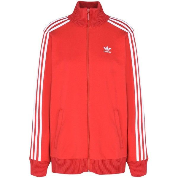 Adidas Originals Sweatshirt ($105) ❤ liked on Polyvore featuring tops, hoodies, sweatshirts, red, logo top, adidas originals sweatshirt, turtleneck top, long sleeve turtleneck and red turtleneck