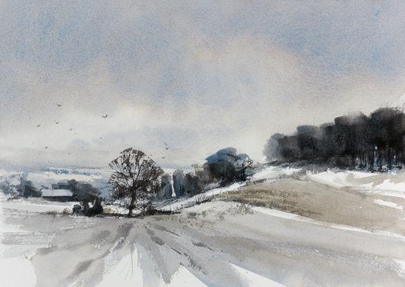 Arie Jekel | Winter day | Watercolor