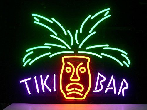 New Tiki Bar Totem Pole Real Glass Neon Light Sign Home Beer Bar Pub Recreation Room Game Room Windows Garage Wall Sign H58