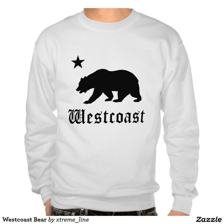 #California Westcoast Bear Sweatshirt.