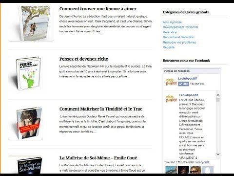 Livres gratuits Développement Personnel est un site où vous retrouverez des ebooks gratuits sur le développement personnel en téléchargement. Ces ebooks  sont au format pdf, Kindle, Ipad et kobo. Dans cette vidéo vous saurez comment vous inscrire et télécharger les livres gratuits de développement personnel en français.