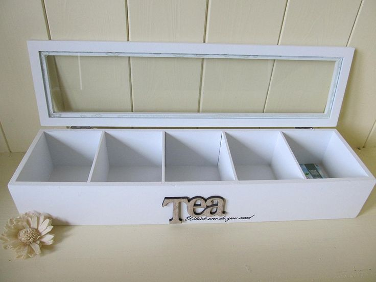 Mazali NB1100250 Tee-Kasten Mds Weiß mit Wording aus gedruckt, Holz, mehrfarbig, 38 x 10 x 7 cm: Amazon.de: Küche & Haushalt