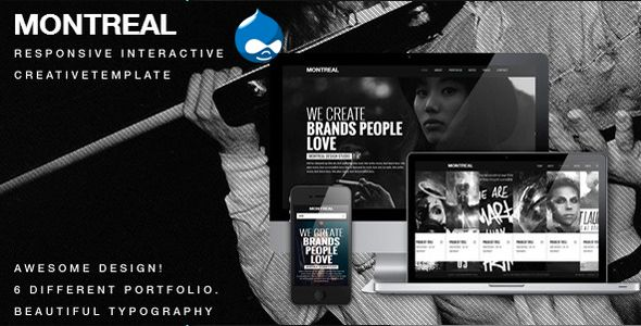 Montreal - Responsive Creative Drupal Theme