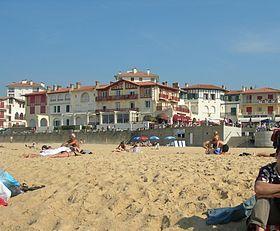 Bâtiments et plage d'Hossegor.(Landes)