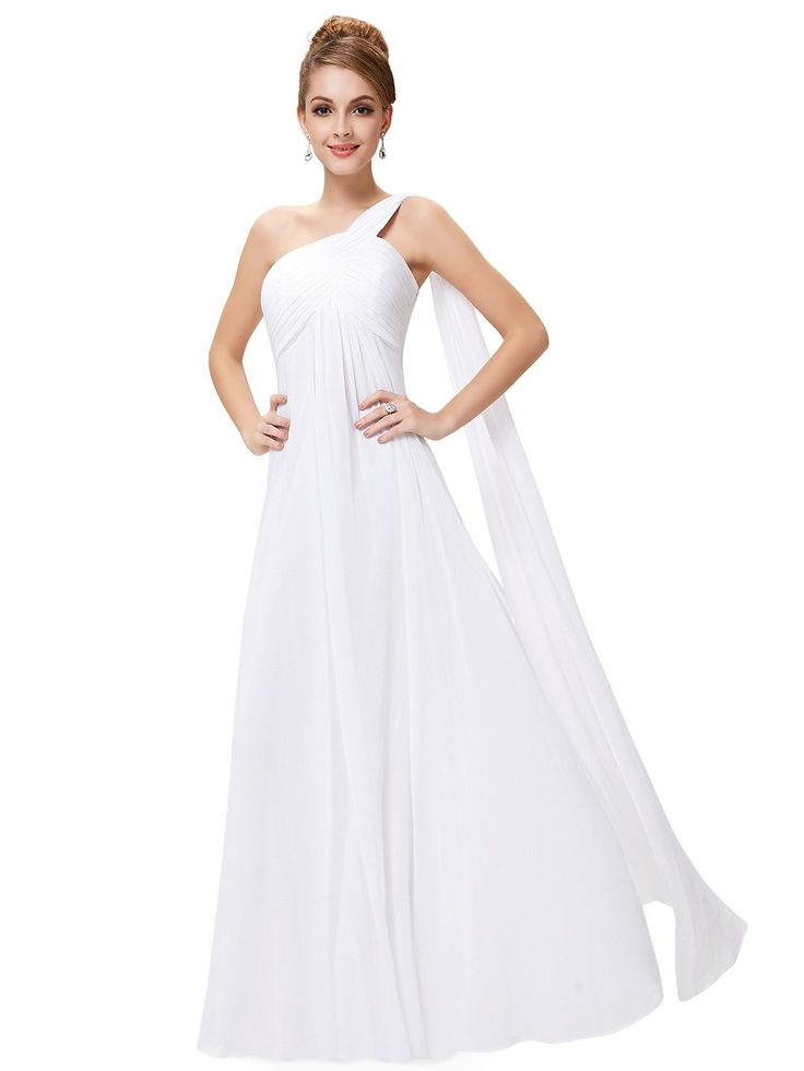 Ever Pretty Damen One Shoulder Chiffon Abendkleider ...