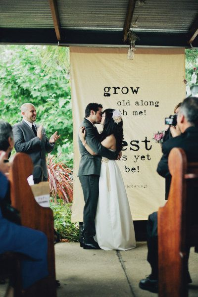 Perth Australia Wedding from Style Me Pretty with the most fab ceremony backdrop