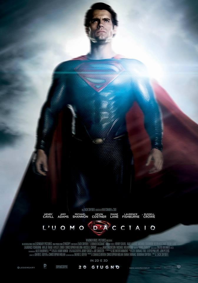 #HenryCavill è Superman nel character poster italiano de L'Uomo d'Acciaio! #ManofSteel #UomoAcciaio #luomodacciaio