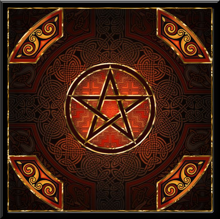 """Celtic Gold"" Pagan Wiccan Festival Greetings Card by Lila Engel. Available at www.lilaengel.co.uk"