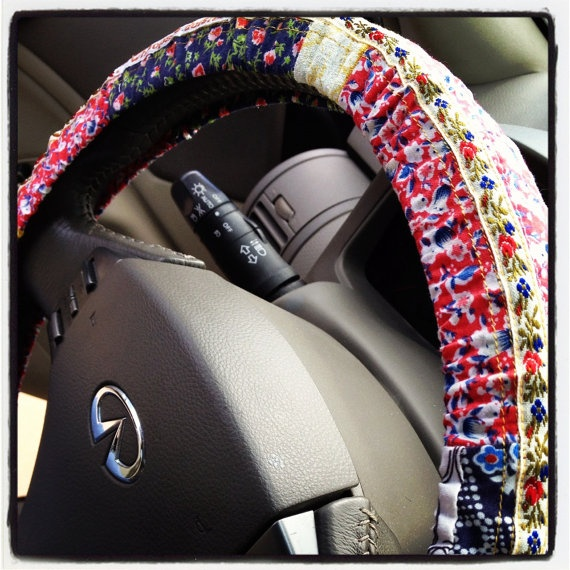 Hippie Chick Steering Wheel Cover By Whoopsie Daisies On